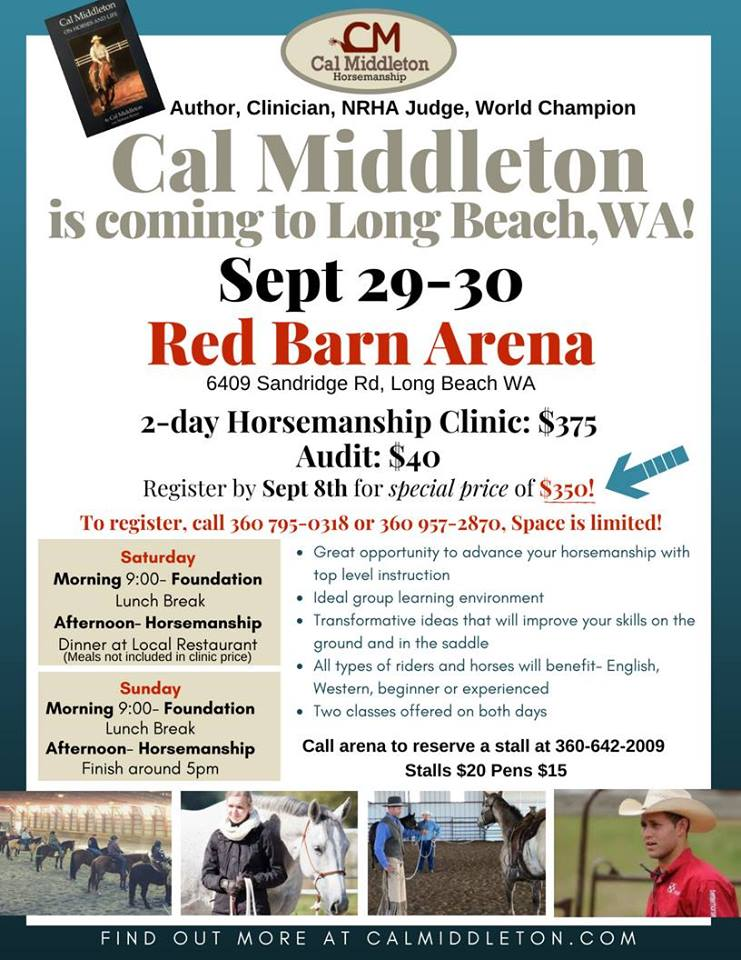 Cal Middleton Clinic @ Red Barn Arena | Long Beach | Washington | United States