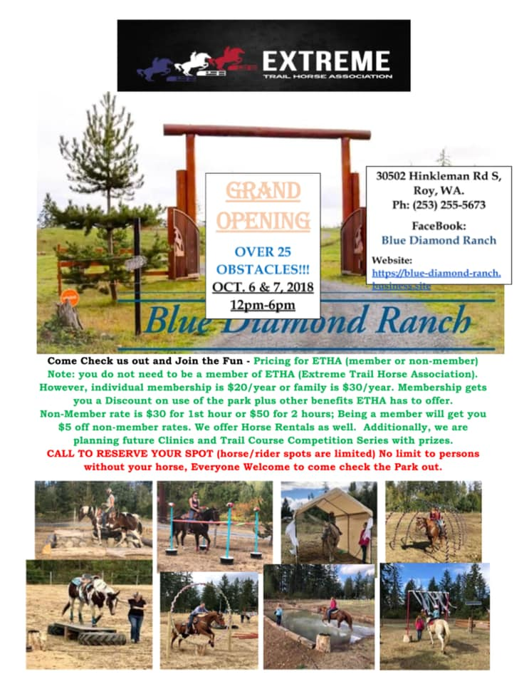 Trail Obstacle Course Park Grand Opening @ Blue Diamond Ranch | Roy | Washington | United States