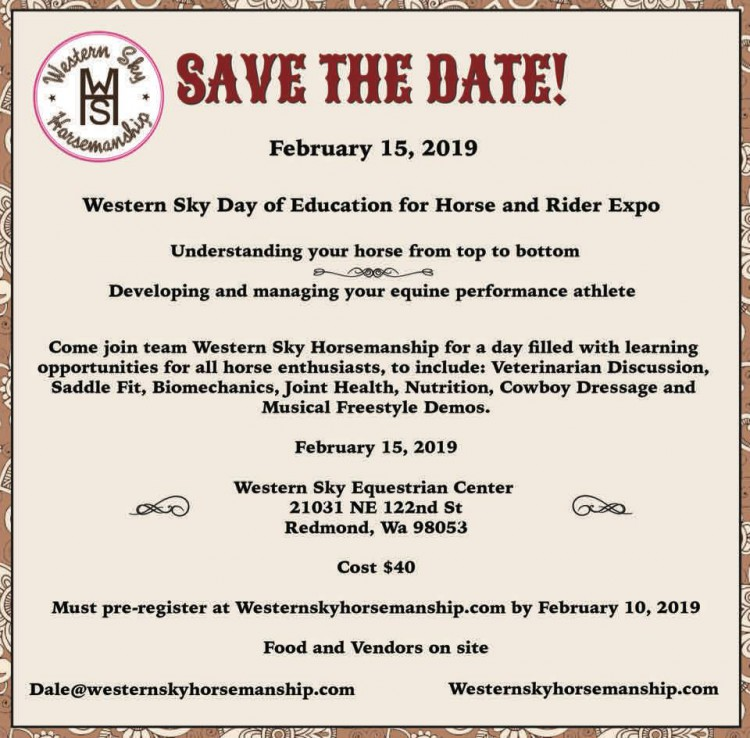 Education for Horse and Rider Expo @ Western Sky Equestrian Center | Redmond | Washington | United States
