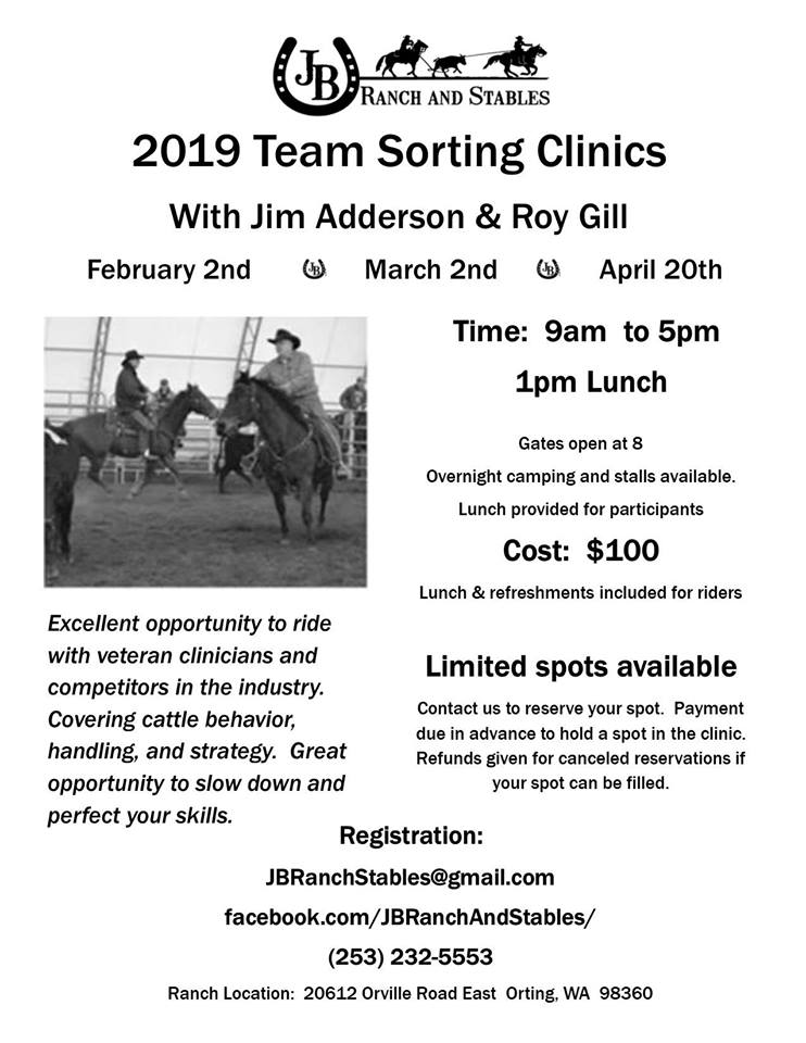 Team Sorting Clinics @ JB Ranch & Stables | Orting | Washington | United States