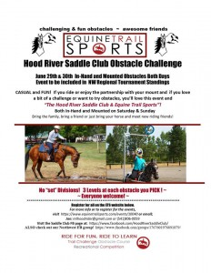 Hood River Saddle Club-Equine Trail Sports Challenge @ Hood River Saddle Club | Hood River | Oregon | United States