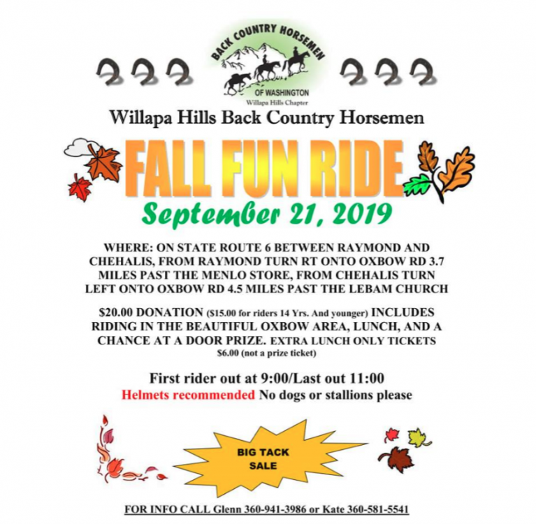 Fall Fun Ride - Tack Sale @ See Flyer | Washington | United States