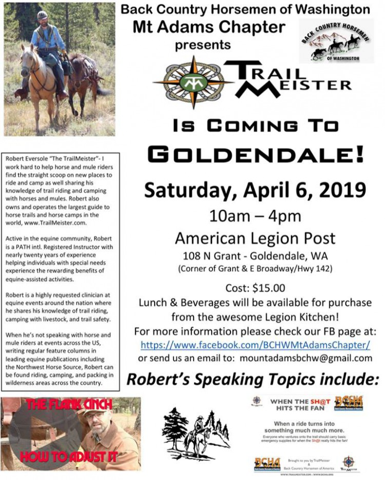 Trail Meister @ American Legion Post | Goldendale | Washington | United States