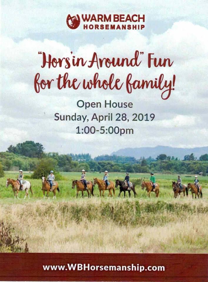 Hors'in Around Open House @ Warm Beach Horsemanship | Stanwood | Washington | United States