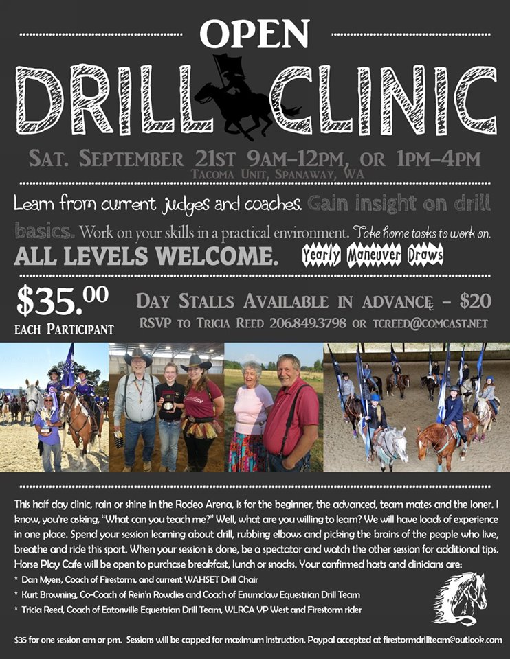Drill Clinic @ Tacoma Unit Horseman's Arena | Spanaway | Washington | United States