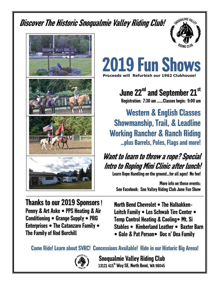 2019 Fun Show @ Snoqualmie Valley Riding Club | North Bend | Washington | United States