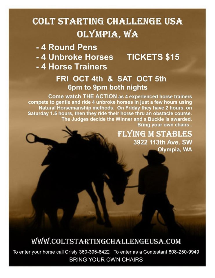 Colt Starting Challenge USA @ Flying M Stables