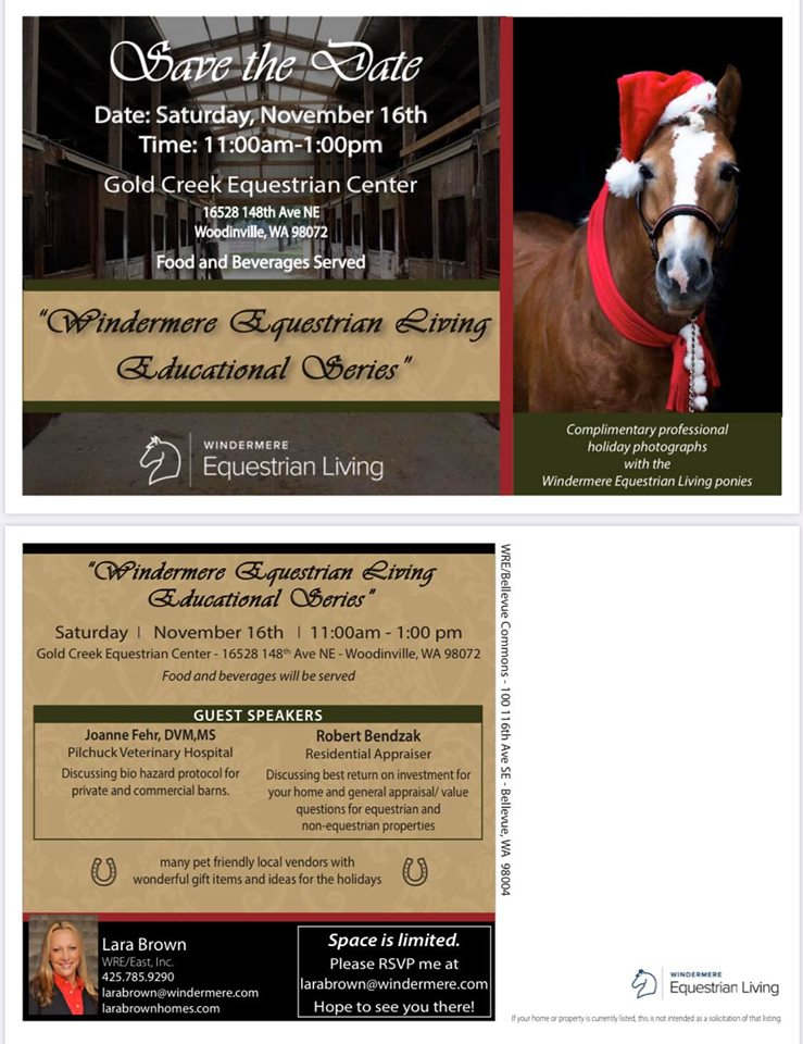Windermere Equestrian Living Educational Series @ Gold Creek Equestrian Center | Woodinville | Washington | United States