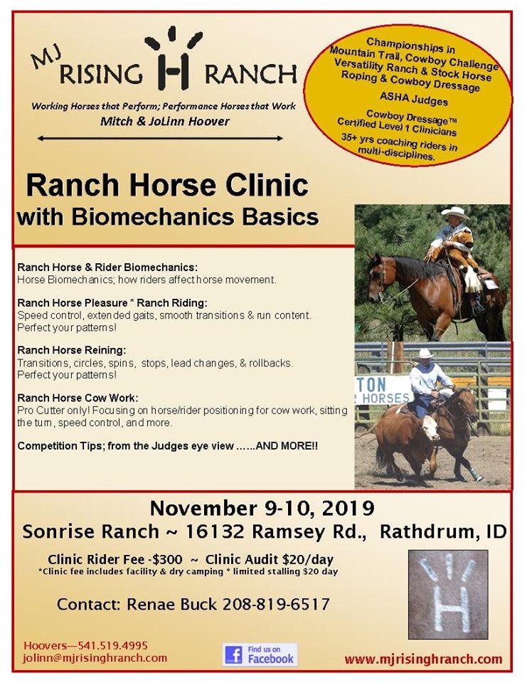 Ranch Horse Clinic @ Sonrise Ranch | Rathdrum | Idaho | United States