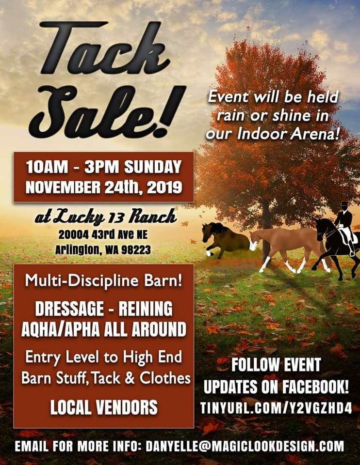 Tack Sale @ Lucky 13 Ranch | Arlington | Washington | United States