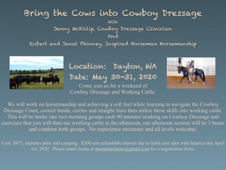 Bring the Cows into Cowboy Dressage @ Inspired Horseman | Dayton | Washington | United States