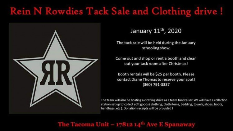 Tack Sale and Clothing Drive @ Tacoma Unit Horseman's Arena | Spanaway | Washington | United States