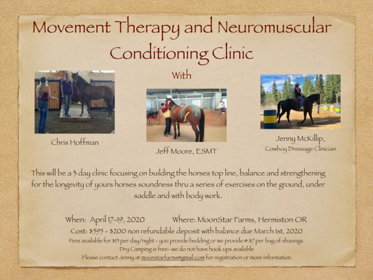 Movement Therapy and Neuromuscular Conditioning Clinic @ MoonStar Farms, LLC | Hermiston | Oregon | United States
