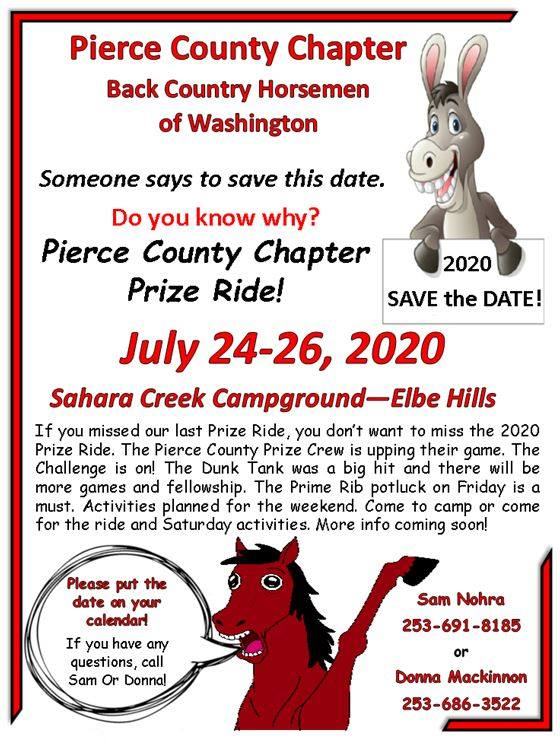 PCC Annual Prize Ride @ Sahara Creek DNR Horse Camp | National | Washington | United States