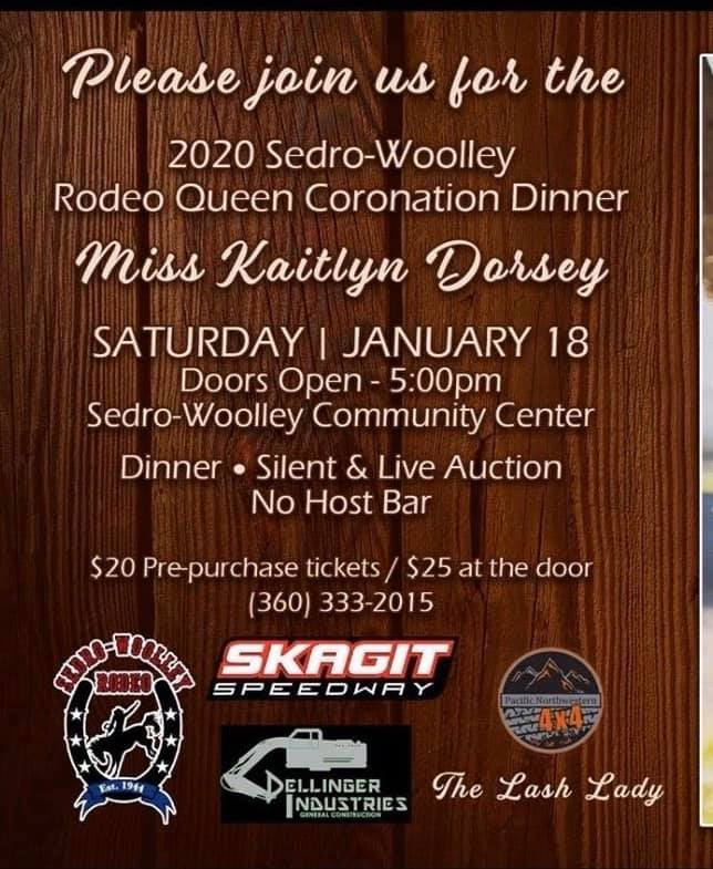 2020 Sedro-Woolley Rodeo Queen Coronation Dinner @ Sedro-Woolley Community Center | Sedro-Woolley | Washington | United States