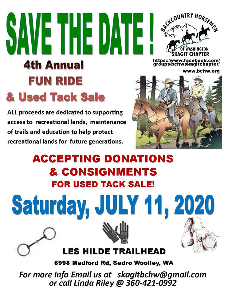 Skagit Fun Ride & Tack Sale @ Les Hilde / Harry Osborne Trailhead | Sedro-Woolley | Washington | United States