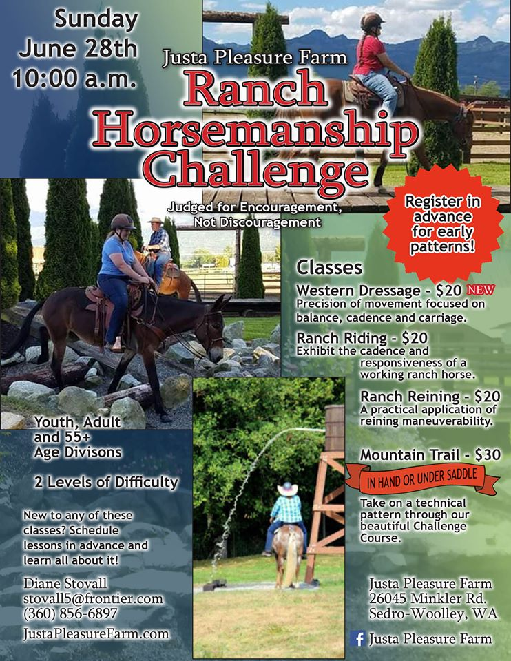 Ranch Horsemanship Challenge @ Justa Pleasure Farm | Sedro-Woolley | Washington | United States