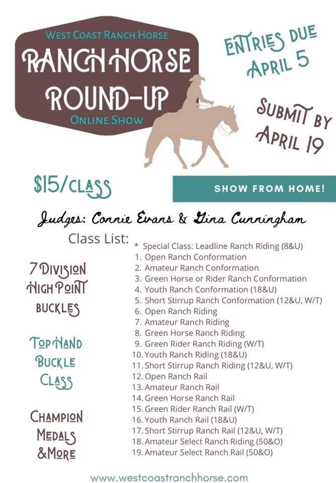 Online - Ranch Horse Round-Up @ Online