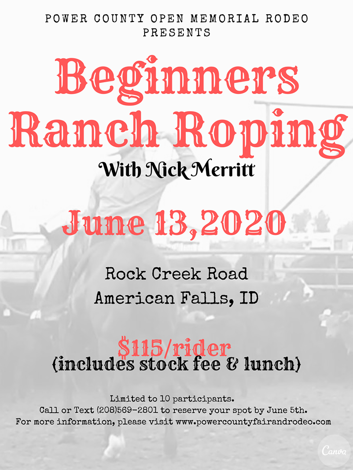 Beginners Ranch Roping @ Merritt | Idaho | United States