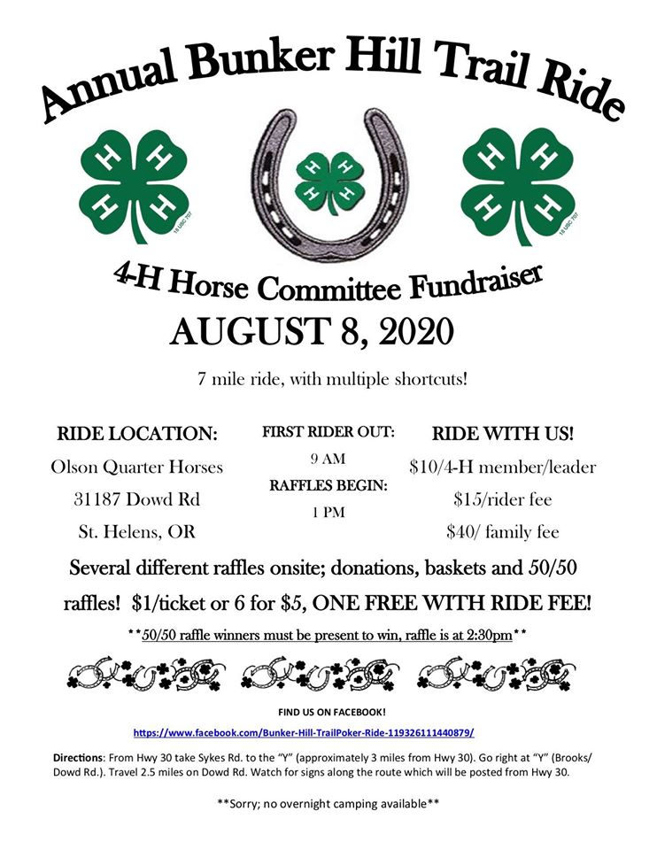 Annual Bunker Hill Trail Ride 2020 @ St. Helens | Oregon | United States