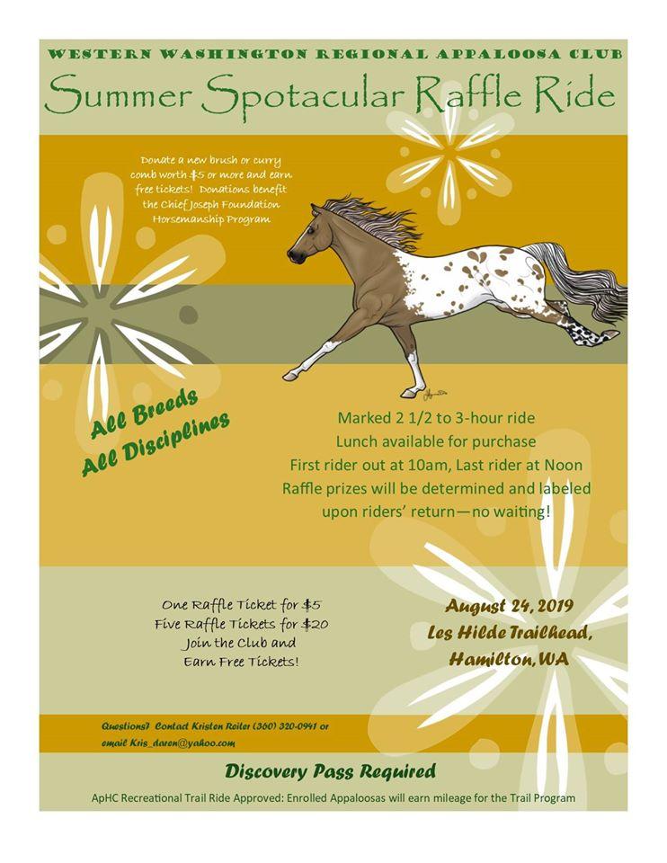 Summer Spotacular Raffle Ride @ Les Hilde / Harry Osborne Trailhead | Sedro-Woolley | Washington | United States