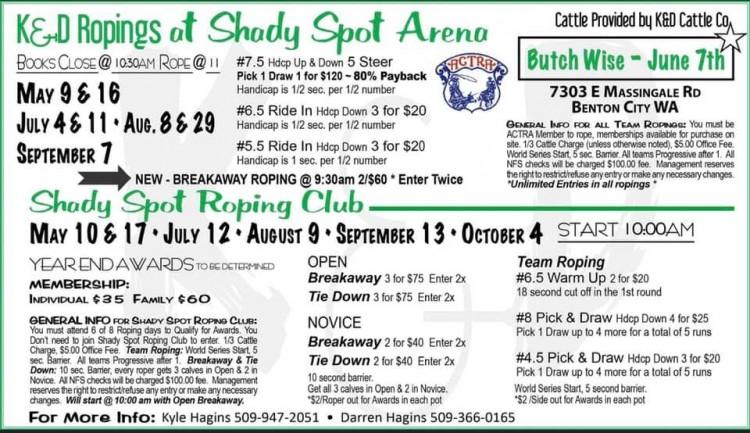 K & D Roping @ Shady Spot Arena | Benton City | Washington | United States
