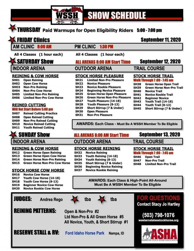 Western States Stock Horse Show @ Ford Idaho Horse Park | Nampa | Idaho | United States