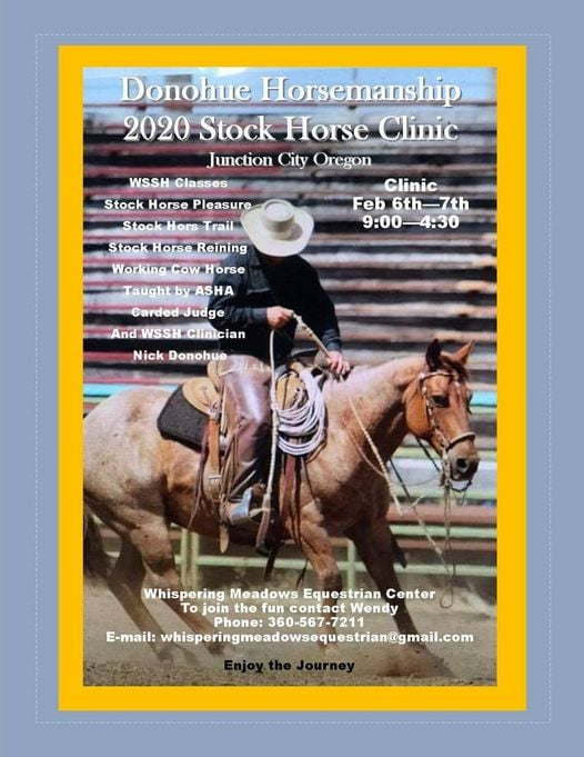 Donohue Horsemanship @ Whispering Meadows Equestrian Center | Junction City | Oregon | United States